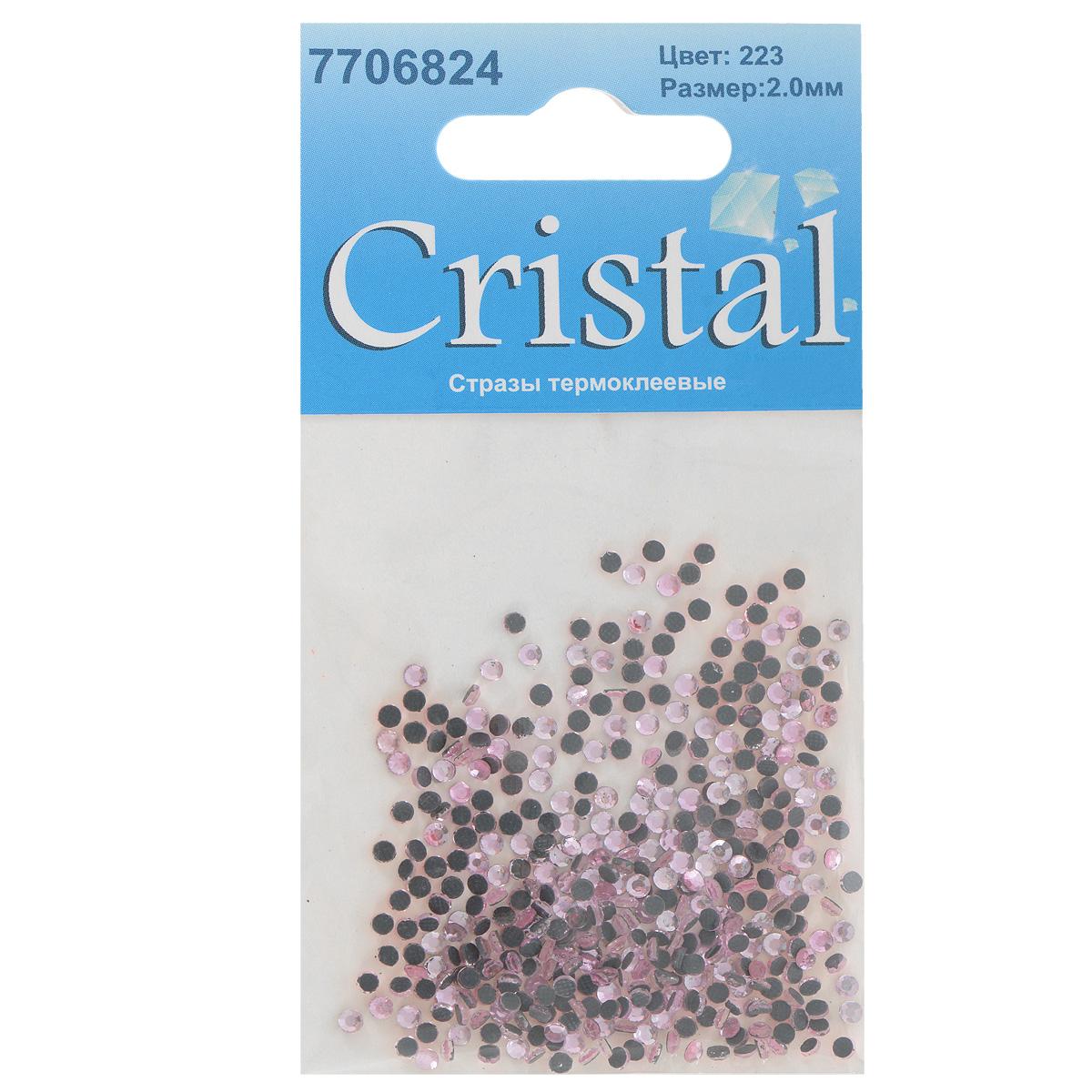 Стразы термоклеевые Cristal, цвет: светло-розовый (223), диаметр 2 мм, 432 шт7706824_223Набор термоклеевых страз Cristal, изготовленный из высококачественного акрила, позволит вам украсить одежду, аксессуары или текстиль. Яркие стразы имеют плоское дно и круглую поверхность с гранями. Дно термоклеевых страз уже обработано особым клеем, который под воздействием высоких температур начинает плавиться, приклеиваясь, таким образом, к требуемой поверхности. Чаще всего их используют в текстильной промышленности: стразы прикладывают к ткани и проглаживают утюгом с обратной стороны. Также можно использовать специальный паяльник. Украшение стразами поможет сделать любую вещь оригинальной и неповторимой. Диаметр страз: 2 мм.