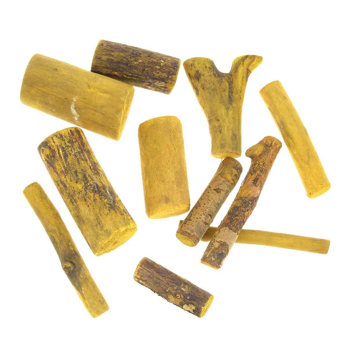 Декоративный элемент Dongjiang Art Ветка, цвет: желтый, 250 г. 77089847708984Декоративный элемент Dongjiang Art Ветка изготовлен из дерева и предназначен для декорирования. Изделие может пригодиться во флористике и многом другом. Декоративный элемент представляет собой кусочек ветки. Флористика - вид декоративно-прикладного искусства, который использует живые, засушенные или консервированные природные материалы для создания флористических работ. Это целый мир, в котором есть место и строгому математическому расчету, и вдохновению, полету фантазии. Размер ветки: 12,5 см х 1,1 см; 8 см х 3,5 см; 9 см х 4,5 см.