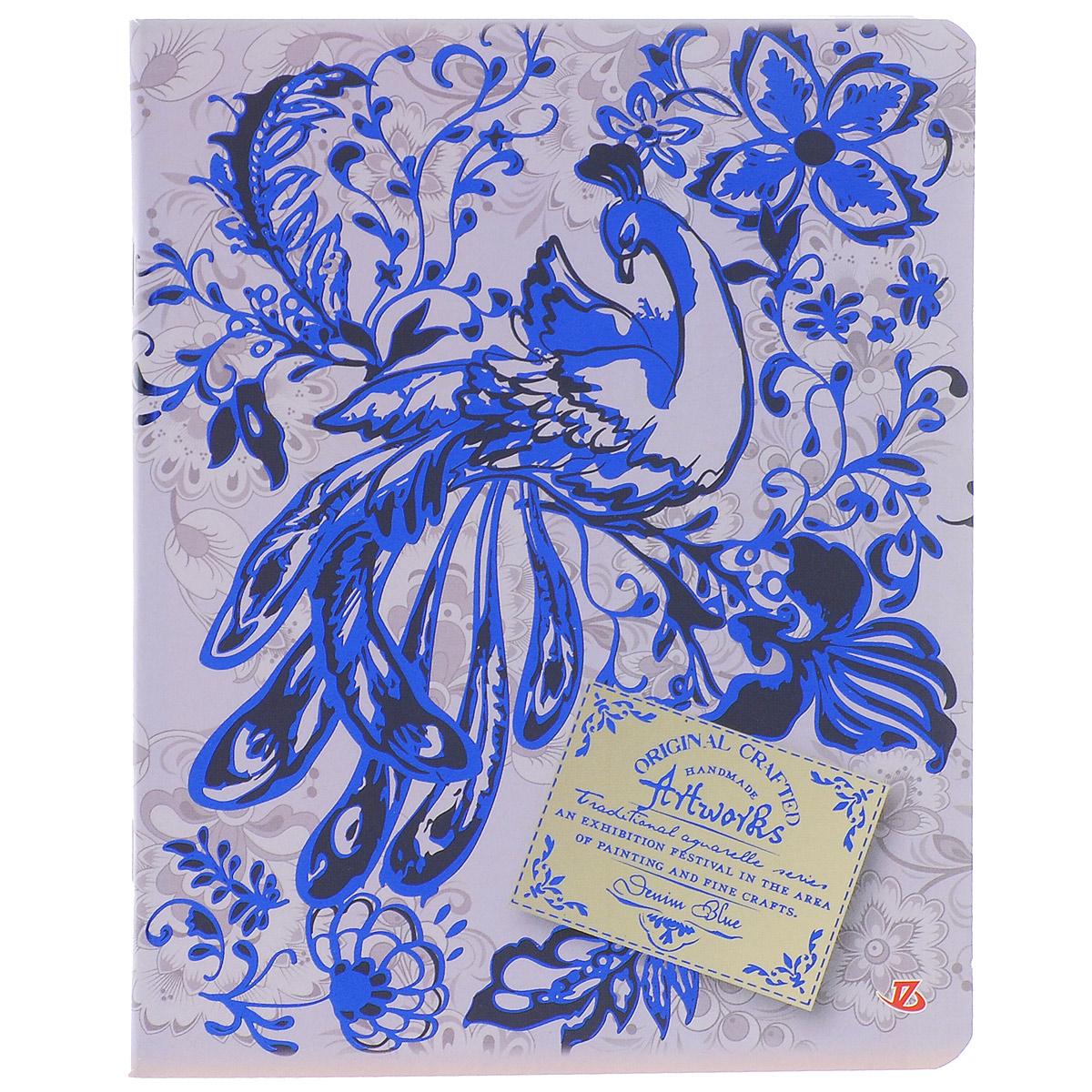Тетрадь в клетку Гжель, цвет: сиреневый, 60 листов. 7231/57231/5_сиреневыйТетрадь в клетку Гжель идеально подойдет для занятий школьнику или студенту. Обложка, выполненная из плотного мелованного картона, позволит сохранить тетрадь в аккуратном состоянии на протяжении всего времени использования. Закругленные уголки также повышают износостойкость и предотвращают загибание. Лицевая сторона оформлена оригинальным изысканным узором и украшена сверкающим тиснением. Внутренний блок состоит из 60 листов бумаги повышенной белизны в фиолетовую клетку с полями.
