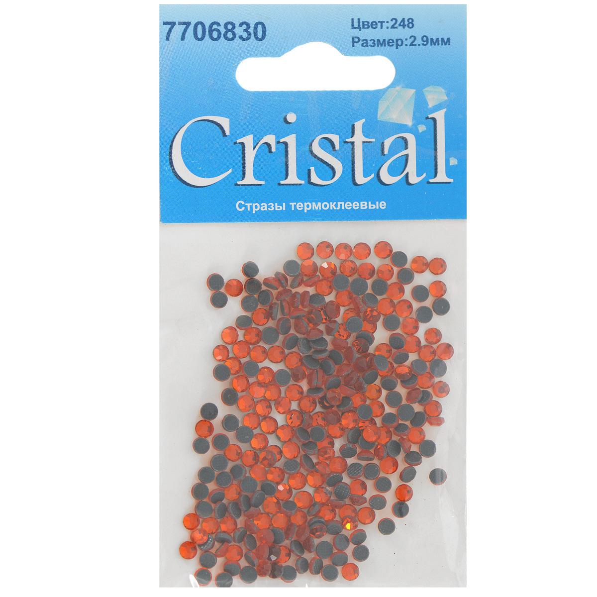 Стразы термоклеевые Cristal, цвет: гранатовый (248), диаметр 2,9 мм, 288 шт7706830_248Набор термоклеевых страз Cristal, изготовленный из высококачественного акрила, позволит вам украсить одежду, аксессуары или текстиль. Яркие стразы имеют плоское дно и круглую поверхность с гранями. Дно термоклеевых страз уже обработано особым клеем, который под воздействием высоких температур начинает плавиться, приклеиваясь, таким образом, к требуемой поверхности. Чаще всего их используют в текстильной промышленности: стразы прикладывают к ткани и проглаживают утюгом с обратной стороны. Также можно использовать специальный паяльник. Украшение стразами поможет сделать любую вещь оригинальной и неповторимой. Диаметр страз: 2,9 мм.