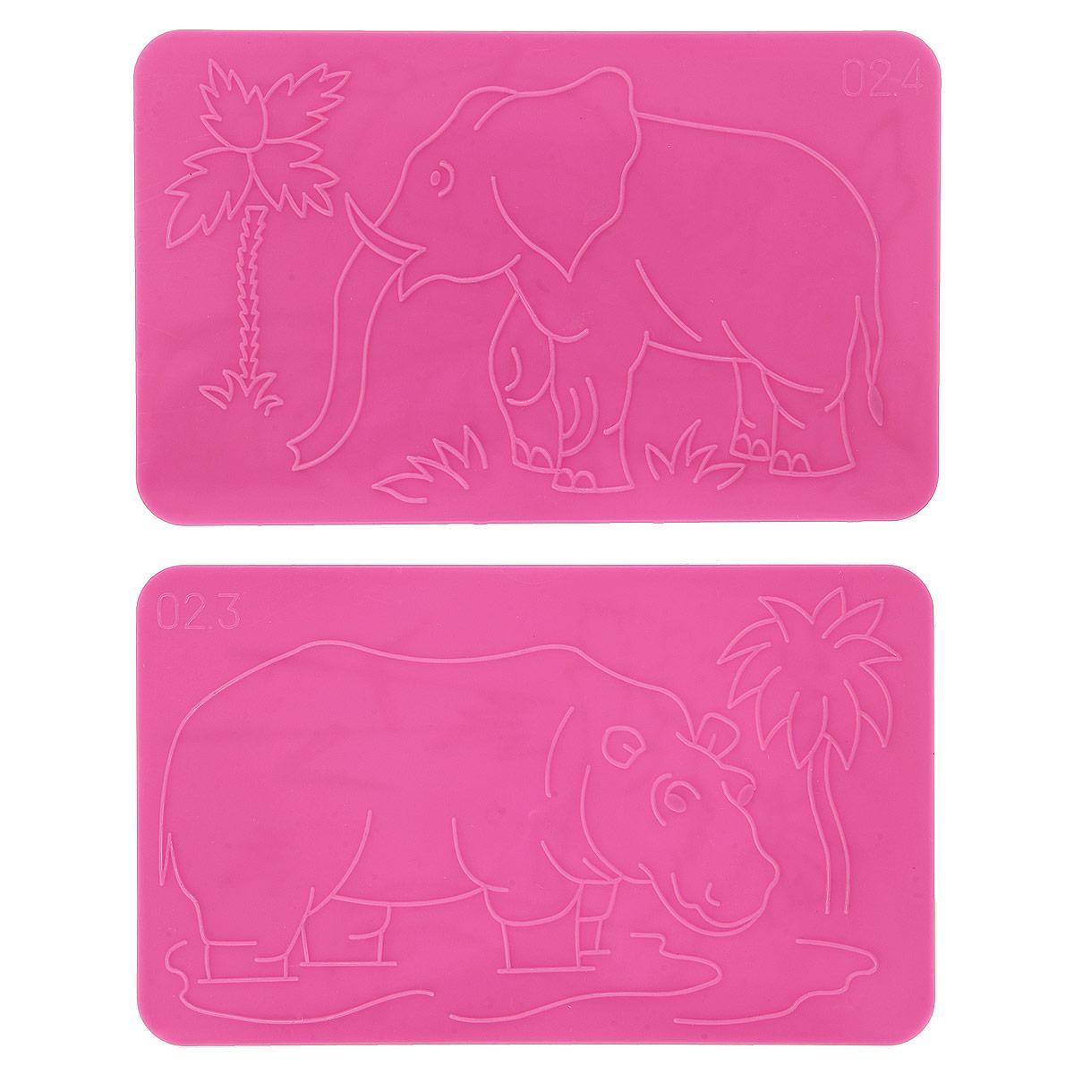 Трафареты рельефные Луч Слон, 2 шт13С 991-08Трафареты рельефные Луч серии Слон, выполненные из безопасного пластика, предназначены для детского творчества. Трафареты не имеют традиционных прорезей - рисунок выступает над плоской поверхностью. Чтобы получить рисунок на бумаге, трафарет кладется под лист, а сверху бумага штрихуется с помощью восковых карандашей. Метод штриховки особенно полезен при подготовке ребенка к школе, развивается мелкая моторика, зрительное восприятие, и вместе с тем, ребенок с увлечением учится рисовать. В упаковке два двусторонних трафарета с изображением слона, гуся, петуха, бегемота. Трафареты предназначены для работы с восковыми карандашами. Трафареты могут быть использованы для организации игровых моментов на уроках ознакомления с окружающим миром, письма и рисования.