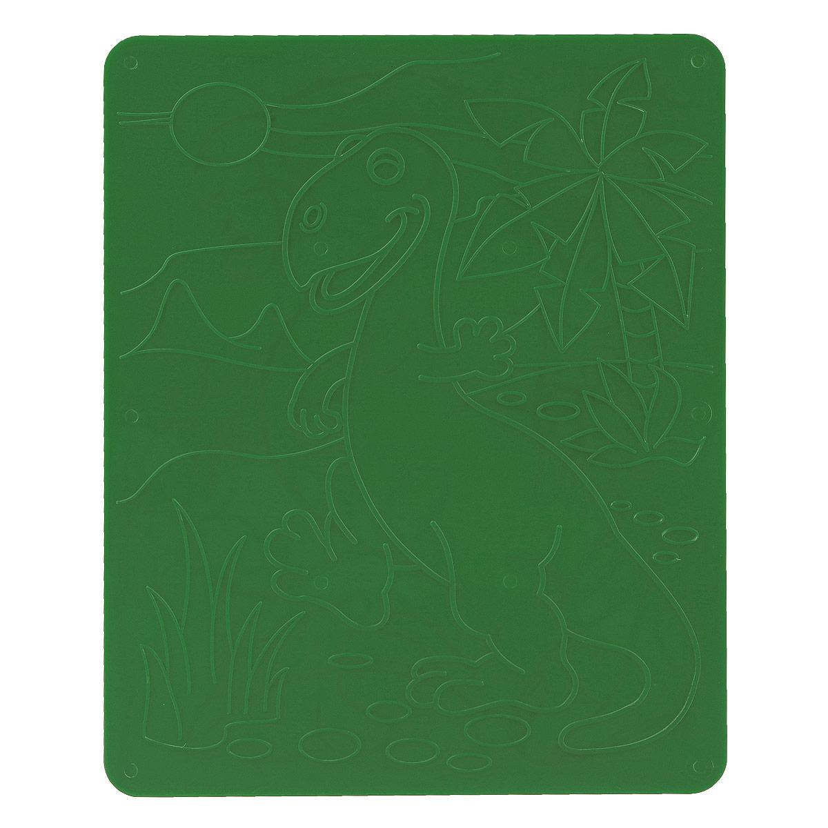 Луч Трафарет рельефный Динозавры цвет зеленый