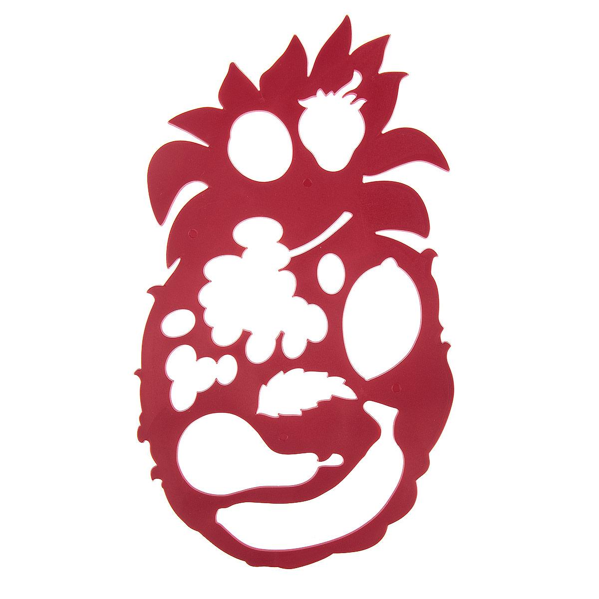 Луч Трафарет фигурный Ананас с фруктами цвет красный17С 1148-08Трафарет фигурный Луч Ананас с фруктами, выполненный из безопасного пластика, предназначен для детского творчества. С помощью этого трафарета ребенок может создать свою отличную композицию из фруктов: банана, груши, винограда, лимона, клубники. Трафарет можно использовать для рисования отдельных плодов и композиции из них, удобно использовать трафарет для изготовления аппликаций. Трафареты предназначены для развития у детей мелкой моторики и зрительно- двигательной координации, навыков художественной композиции и зрительного восприятия.