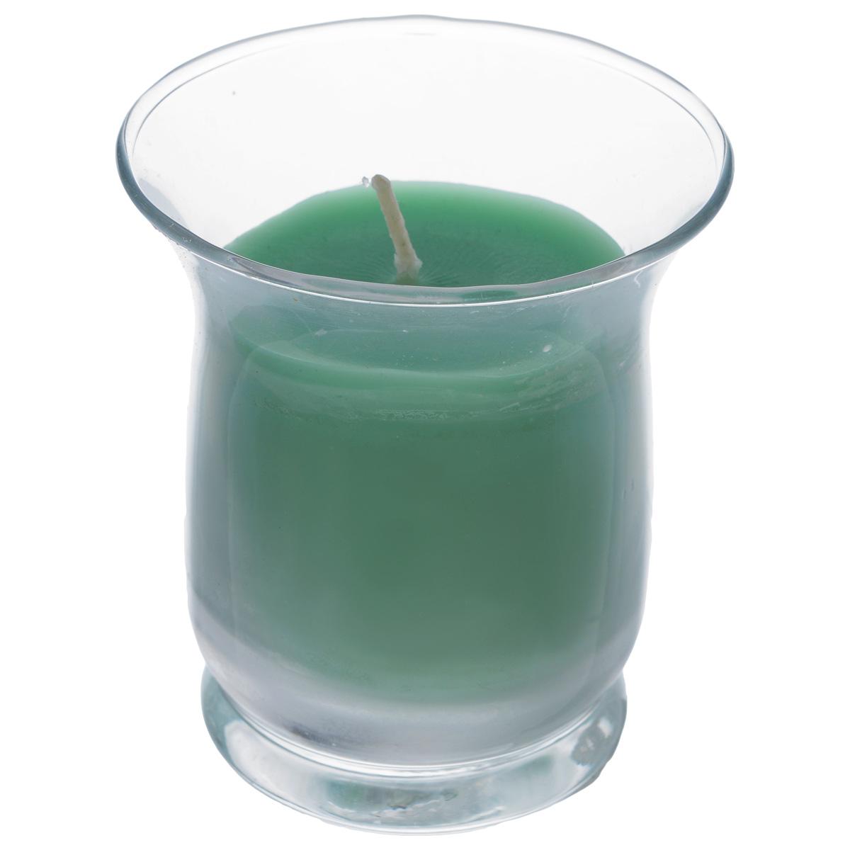 Свеча Sima-land Романтика, с ароматом яблока, высота 7,5 см849623Ароматизированная свеча Sima-land Романтика изготовлена из воска и поставляется в подсвечнике в виде стеклянного стакана. Изделие отличается оригинальным дизайном и приятным ароматом яблока. Такая свеча может стать отличным подарком или дополнить интерьер вашей комнаты.