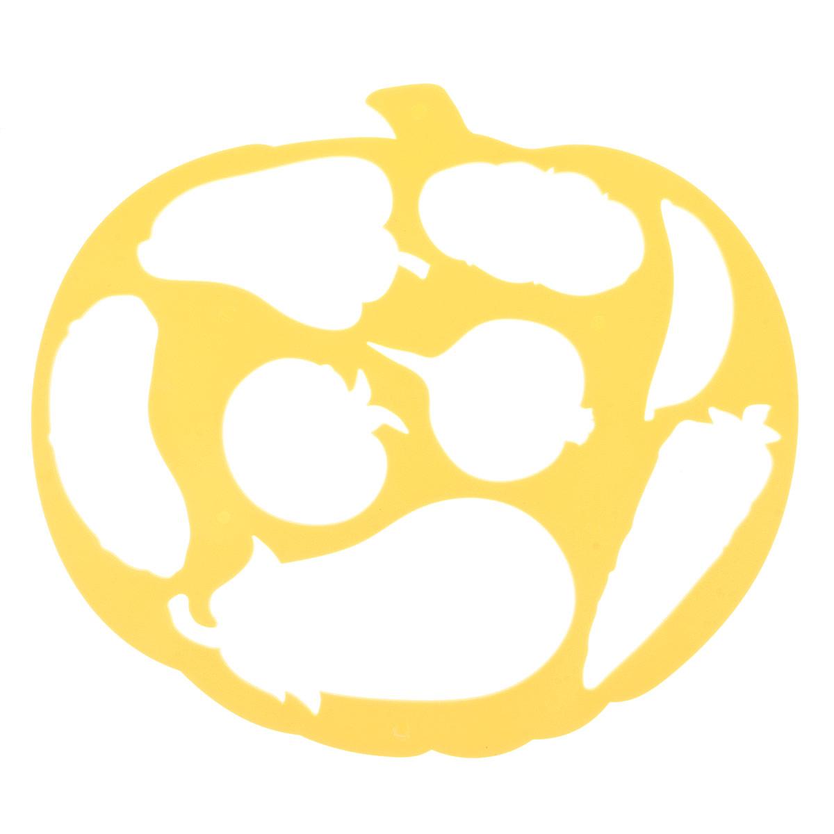 Трафарет фигурный Луч Тыква и овощи, цвет: желтый17С 1149-08Трафарет фигурный Луч Тыква и овощи, выполненный из безопасного пластика, предназначен для детского творчества. С помощью такого трафарета ребенок может нарисовать большую тыкву и создать свою интересную композицию из овощей: огурца, перца, помидора, баклажана, моркови, гороха, картофеля и репы. Изделие применяется для создания композиций и аппликаций, а также для рисования красками. Трафареты предназначены для развития у детей мелкой моторики и зрительно- двигательной координации, навыков художественной композиции и зрительного восприятия.