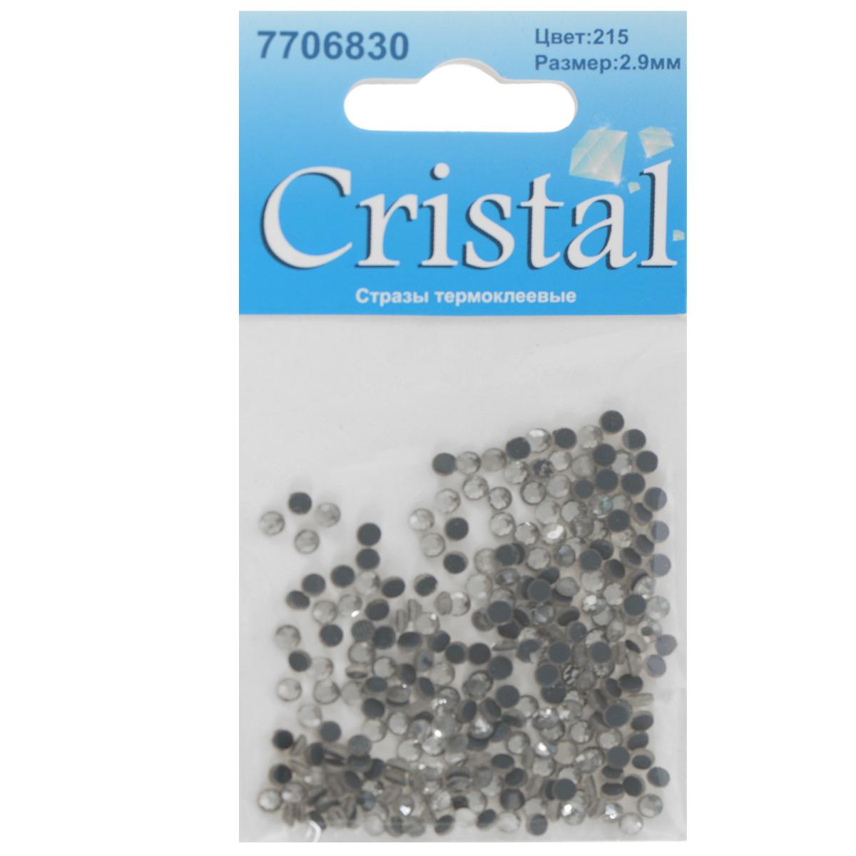 Стразы термоклеевые Cristal, цвет: белый (215), диаметр 2,9 мм, 288 шт7706830_215Набор термоклеевых страз Cristal, изготовленный из высококачественного акрила, позволит вам украсить одежду, аксессуары или текстиль. Яркие стразы имеют плоское дно и круглую поверхность с гранями. Дно термоклеевых страз уже обработано особым клеем, который под воздействием высоких температур начинает плавиться, приклеиваясь, таким образом, к требуемой поверхности. Чаще всего их используют в текстильной промышленности: стразы прикладывают к ткани и проглаживают утюгом с обратной стороны. Также можно использовать специальный паяльник. Украшение стразами поможет сделать любую вещь оригинальной и неповторимой. Диаметр страз: 2,9 мм.