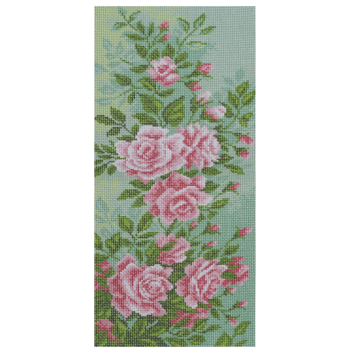 Канва с рисунком для вышивания Плетистая роза, 24 см х 47 см. 581755 - Матренин Посад581755_плетистая розаКанва с рисунком для вышивания Плетистая роза изготовлена из хлопка. Рисунок-вышивка выполненный на такой канве, выглядит очень оригинально. Вышивка выполняется в технике полный крестик в 2-3 нити или полукрестом в 4 нити. Для этого возьмите отрез (60 см) мулине нужного цвета, который состоит из 6 ниточек. Вышивание отвлечет вас от повседневных забот и превратится в увлекательное занятие! Работа, сделанная своими руками, создаст особый уют и атмосферу в доме и долгие годы будет радовать вас и ваших близких, а подарок, выполненный собственноручно, станет самым ценным для друзей и знакомых. Рекомендуемое количество цветов: 10. Не рекомендуется стирать или мочить рисунок на канве перед вышиванием. УВАЖАЕМЫЕ КЛИЕНТЫ! Обращаем ваше внимание, на тот факт, что цвет символа на ткани может отличаться от реального цвета нити мулине.