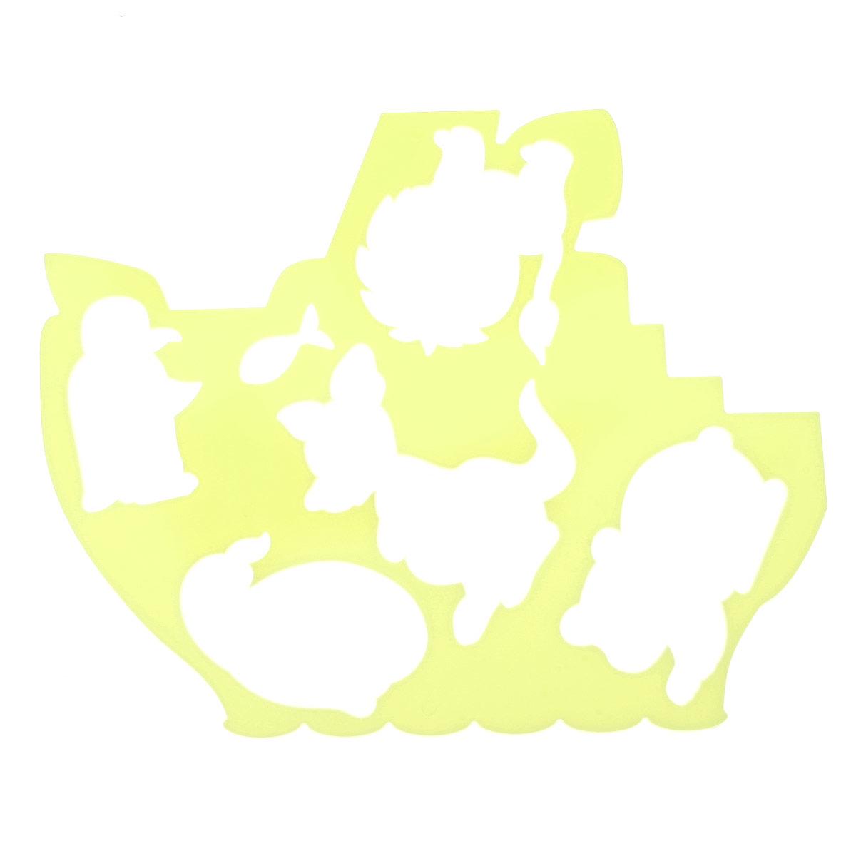 Луч Трафарет фигурный Кораблик и друзья цвет желтый18С 1209-08Трафарет фигурный Луч Кораблик и друзья, выполненный из безопасного пластика, предназначен для детского творчества. При помощи этого трафарета ребенок может нарисовать кораблик, который плавает по морям и океанам. На фигурном трафарете размещены контуры медвежонка, пингвина, кенгуру, львенка, кита и маленькой рыбки. Трафарет можно использовать для рисования отдельных животных и композиций из них, а также для изготовления аппликаций. Трафареты предназначены для развития у детей мелкой моторики и зрительно-двигательной координации, навыков художественной композиции и зрительного восприятия.