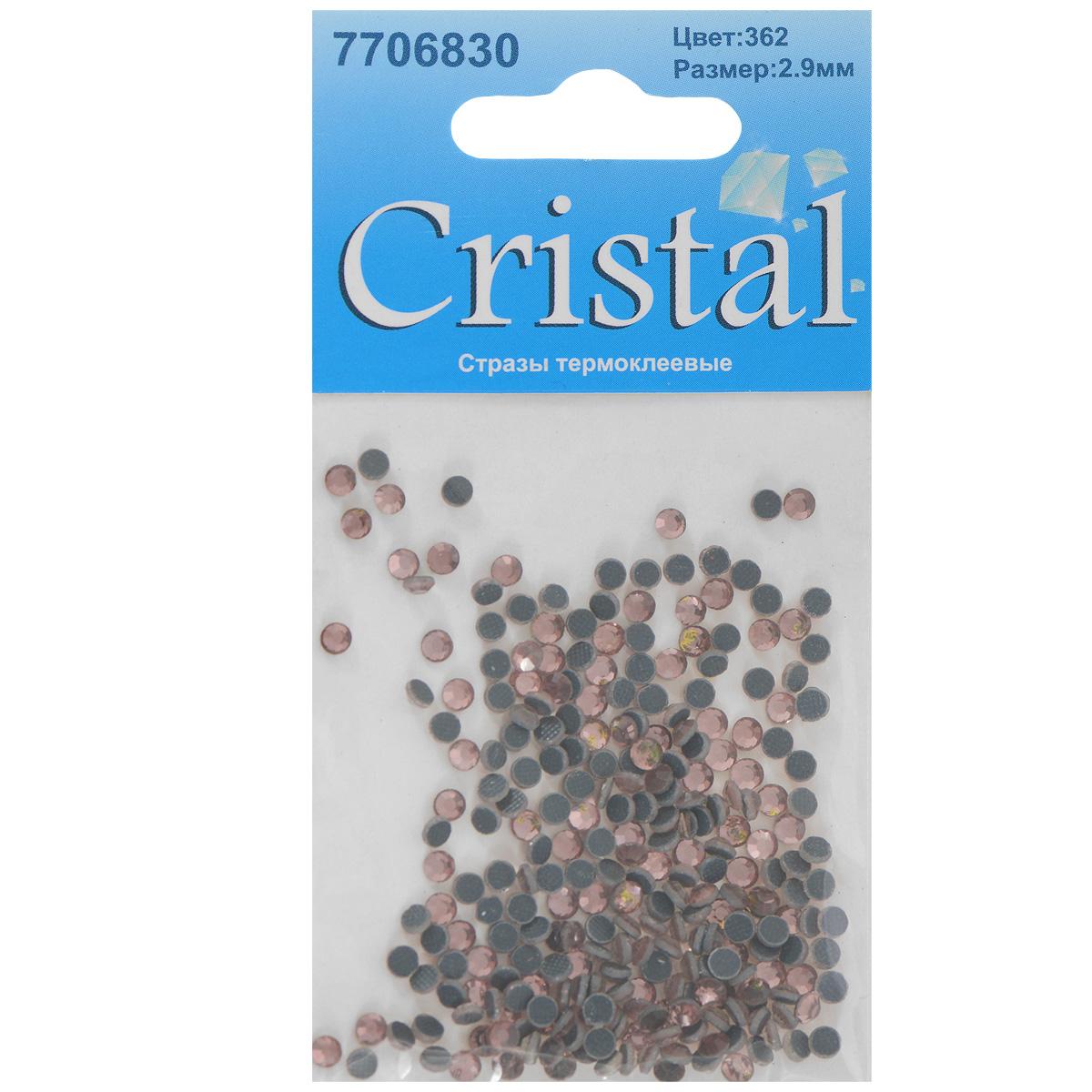 Стразы термоклеевые Cristal, цвет: светло-коралловый (362), диаметр 2,9 мм, 288 шт7706830_362Набор термоклеевых страз Cristal, изготовленный из высококачественного акрила, позволит вам украсить одежду, аксессуары или текстиль. Яркие стразы имеют плоское дно и круглую поверхность с гранями. Дно термоклеевых страз уже обработано особым клеем, который под воздействием высоких температур начинает плавиться, приклеиваясь, таким образом, к требуемой поверхности. Чаще всего их используют в текстильной промышленности: стразы прикладывают к ткани и проглаживают утюгом с обратной стороны. Также можно использовать специальный паяльник. Украшение стразами поможет сделать любую вещь оригинальной и неповторимой. Диаметр страз: 2,9 мм.