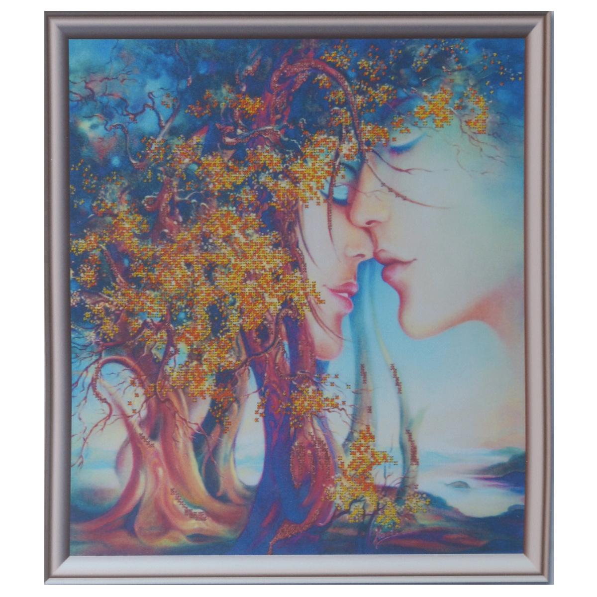 Набор для вышивания бисером Astrea Вечно влюбленные, 40 х 40 см488168Набор для вышивания бисером Astrea Вечно влюбленные поможет вам создать свой собственный шедевр - красивую картину, частично вышитую бисером по цветному фону. Вышивание отвлечет вас от повседневных забот и превратится в увлекательное занятие! Работа, сделанная своими руками, создаст особый уют и атмосферу в доме и долгие годы будет радовать вас и ваших близких, а подарок, выполненный собственноручно, станет самым ценным для друзей и знакомых. В набор входят: - ткань с нанесенным цветным рисунком, - бисер Preciosa Ornela (Чехия) - 3 цвета, - игла для бисера, - инструкция на русском языке.
