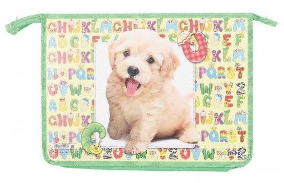 Папка для тетрадей Веселый щенок, 2 отд., на молнии , ф. А4ПТР-115/10162Особенности: А4 Тип застежки: Молния