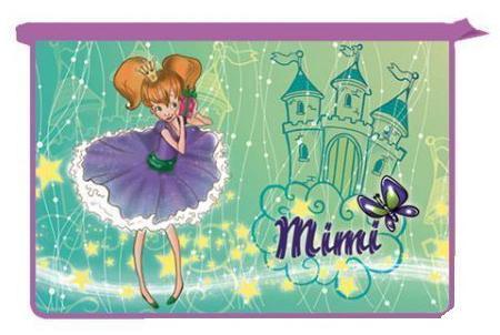 Папка для тетрадей Принцесса Мими, 2-отд., на молнии, пластик,ф. А4ПТ-Р13/8713