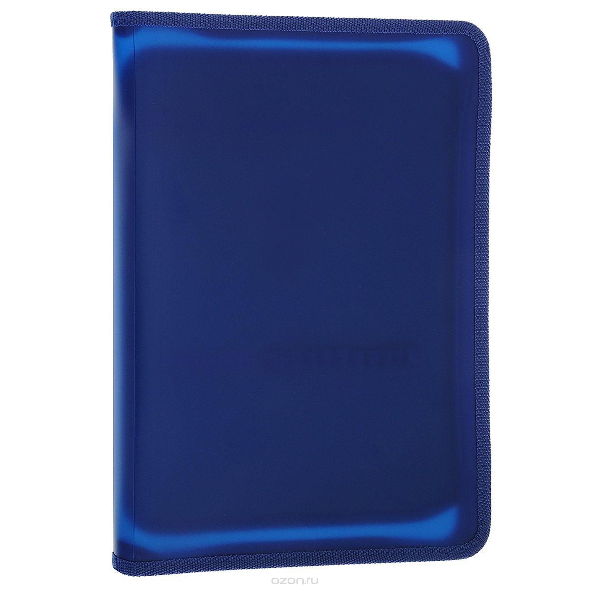 Папка для тетрадей Оникс, цвет: синий. Формат А4ПТ-Р6/9191Папка для тетрадей Оникс - это удобный и функциональный инструмент, который идеально подойдет для хранения различных бумаг формата А4, а также школьных тетрадей и письменных принадлежностей. Папка изготовлена из гибкого прозрачного пластика и надежно закрывается на застежку-молнию. Внутри расположен клапан с карманом, который дополнен эластичными фиксаторами для канцелярских принадлежностей. Края папки имеют текстильную отделку, что помогает надолго сохранить опрятный вид папки и защитить ее от повреждений. Для предотвращения загибания, уголки папки закруглены. Папка практична в использовании, надежно сохранит и сбережет бумаги и тетради от повреждений, пыли и влаги.