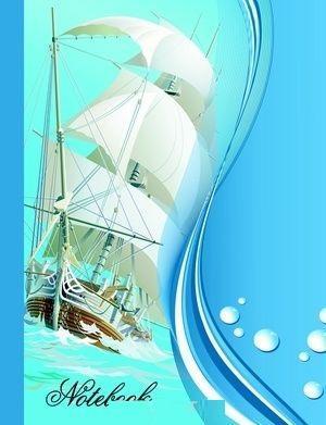 Бриз Престиж-блокнот А6 7БЦ 160л. Кораблик 1150-119