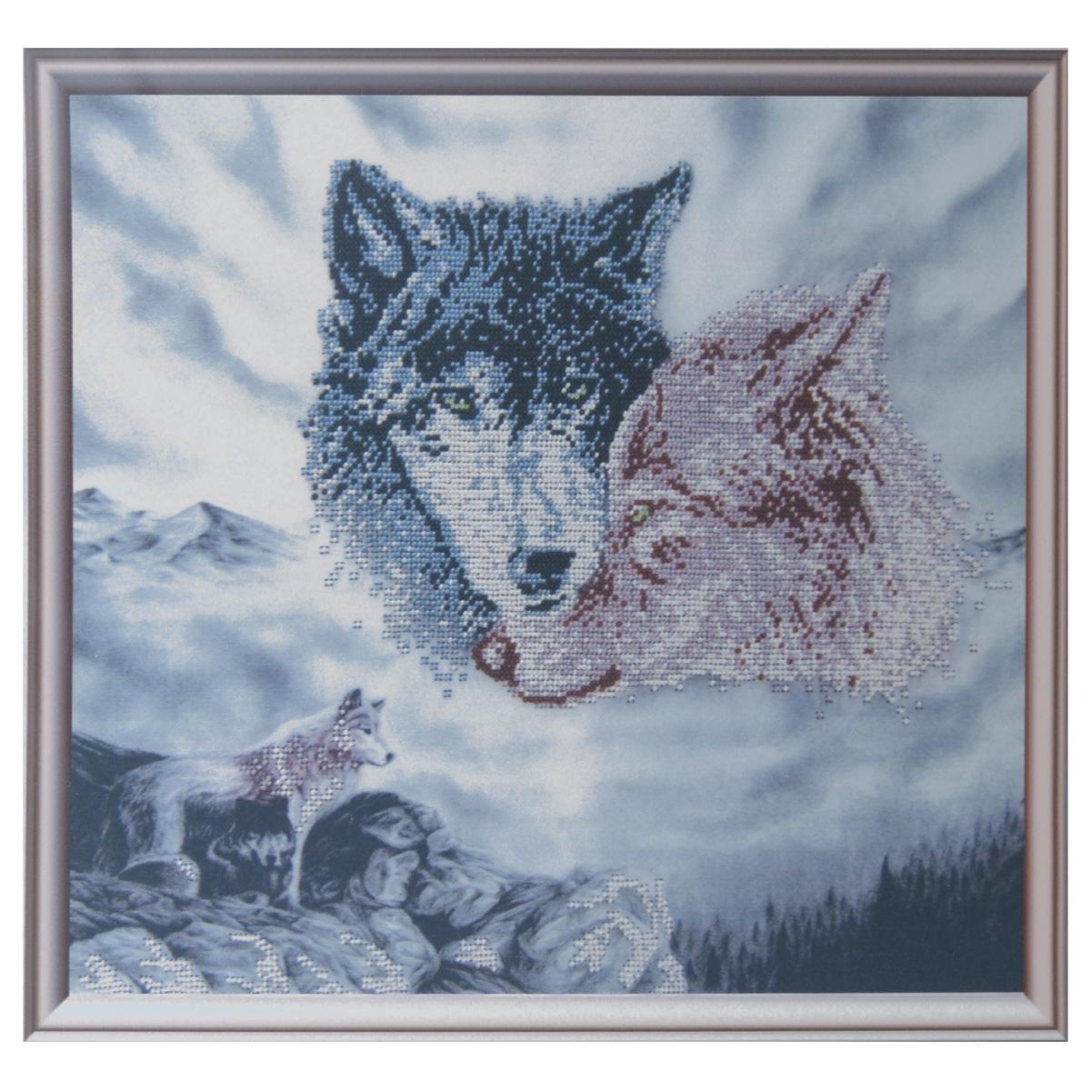 Набор для вышивания бисером Astrea Воспоминания волчицы, 40 х 34 см7713563Набор для вышивания бисером Astrea Воспоминания волчицы поможет вам создать свой собственный шедевр - красивую картину, частично вышитую бисером по цветному фону. Вышивание отвлечет вас от повседневных забот и превратится в увлекательное занятие! Работа, сделанная своими руками, создаст особый уют и атмосферу в доме и долгие годы будет радовать вас и ваших близких, а подарок, выполненный собственноручно, станет самым ценным для друзей и знакомых. В набор входят: - ткань с нанесенным цветным рисунком, - бисер Preciosa Ornela (Чехия) - 6 цветов, - игла для бисера, - инструкция на русском языке.