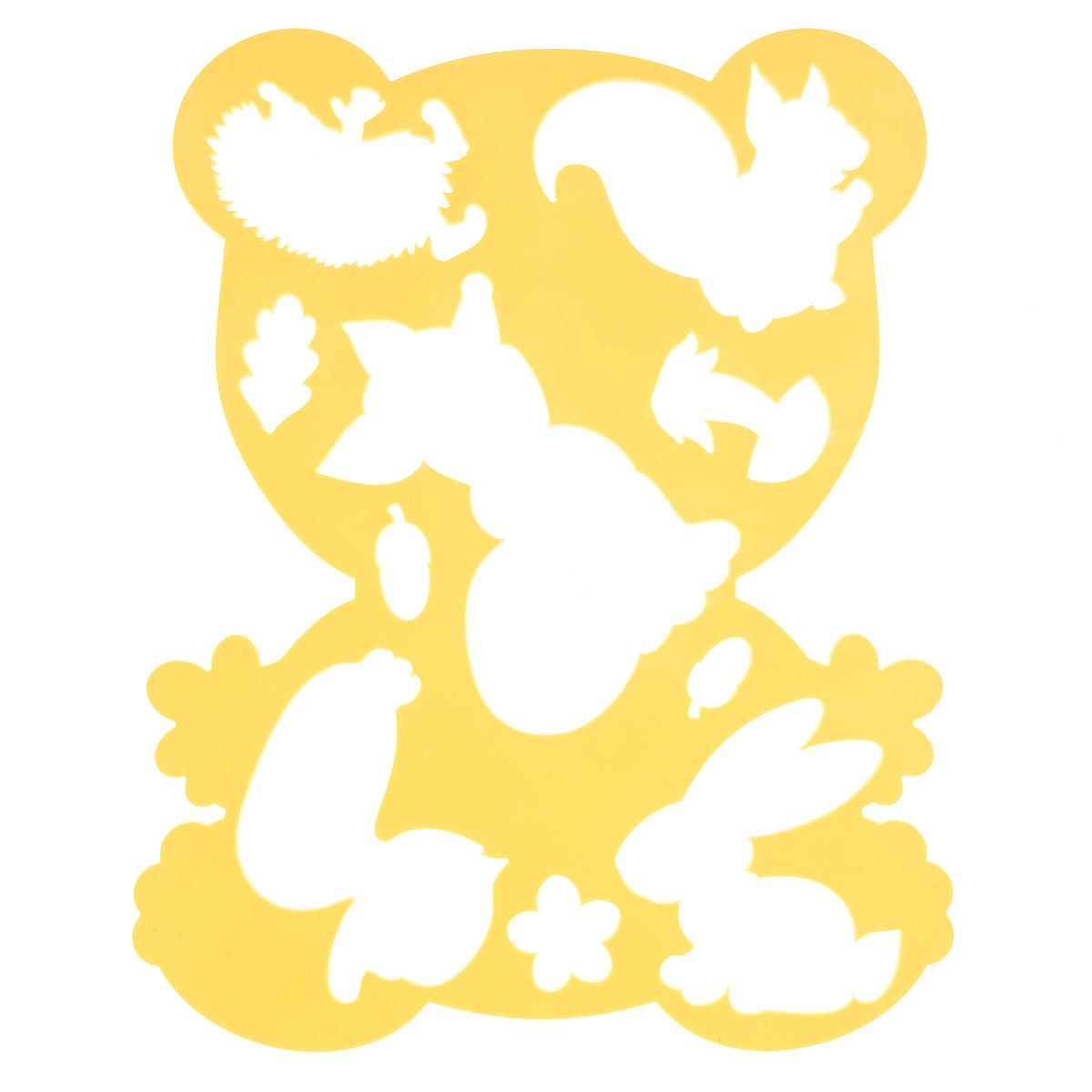 Луч Трафарет фигурный Медвежонок и друзья цвет желтый18С 1208-08Трафарет фигурный Луч Медвежонок и друзья, выполненный из безопасного пластика, предназначен для детского творчества. При помощи этого трафарета ребенок может нарисовать забавного мишку в кругу его лесных обитателей: ежика, зайца, белочки, уточки и лисы. Трафарет можно использовать для рисования отдельных животных и композиций из них, а также для изготовления аппликаций. Трафареты предназначены для развития у детей мелкой моторики и зрительно- двигательной координации, навыков художественной композиции и зрительного восприятия.