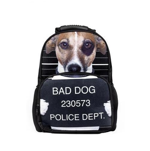 Рюкзак Trend Line Bad dogNR_00054Модный рюкзак Trend Line изготовлен из флиса и имеет высококачественную фигуру. Рюкзак имеет два основных независимых отделения, внутренний карман на молнии. Этот рюкзак разработан специально для людей экстравагантных и модных, любящих быть в центре внимания.
