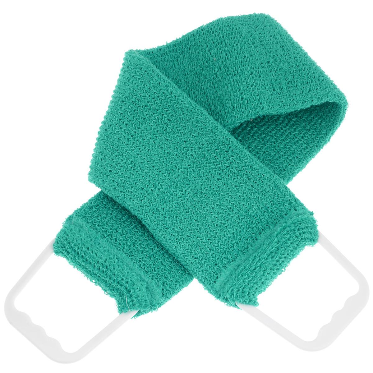 Мочалка-пояс массажная Riffi, цвет: бирюзовый103_бирюзовыйМочалка-пояс Riffi используется для мытья тела, обладает активным пилинговым действием, тонизируя, массируя и эффективно очищая вашу кожу. Примесь жестких синтетических волокон усиливает массажное воздействие на кожу. Для удобства применения пояс снабжен двумя пластиковыми ручками. Благодаря отшелушивающему эффекту мочалки-пояса, кожа освобождается от отмерших клеток, становится гладкой, упругой и свежей. Массаж тела с применением Riffi стимулирует кровообращение, активирует кровоснабжение, способствует обмену веществ, что в свою очередь позволяет себя чувствовать бодрым и отдохнувшим после принятия душа или ванны. Riffi регенерирует кожу, делает ее приятно нежной, мягкой и лучше готовой к принятию косметических средств. Приносит приятное расслабление всему организму. Борется со спазмами и болями в мышцах, предупреждает образование целлюлита и обеспечивает омолаживающий эффект. Моет легко и энергично. Быстро сохнет. Гипоаллергенная. Способ...