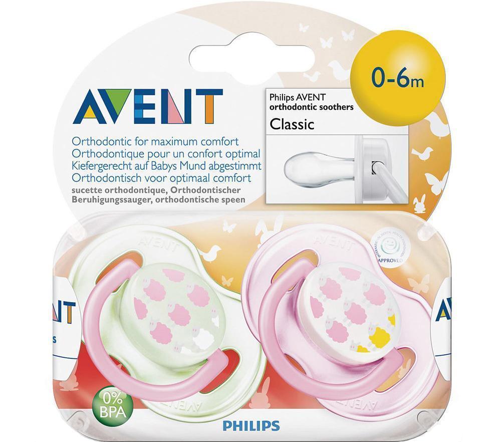 Пустышка силиконовая «Дизайн» 0-6мес (уп.2шт)86128_розовый (овечки)Давая малышу пустышку Philips AVENT, мама может не волноваться: симметричная соска каплевидной формы не нарушает естественное развитие зубов и десен. Защитный колпачок сохраняет соску в чистоте. И, наконец, сама соска выполнена из прочного, долговечного, гигиеничного материала – силикона. Теперь пустышки Philips AVENT стали еще безопаснее: ободок новой пустышки изготавливается из материала Тритан, не содержащего бисфенол А.