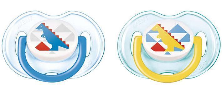 Philips Avent Пустышка силиконовая ортодонтическая Classic от 0 до 6 месяцев цвет синий желтый 2 шт SCF172/18