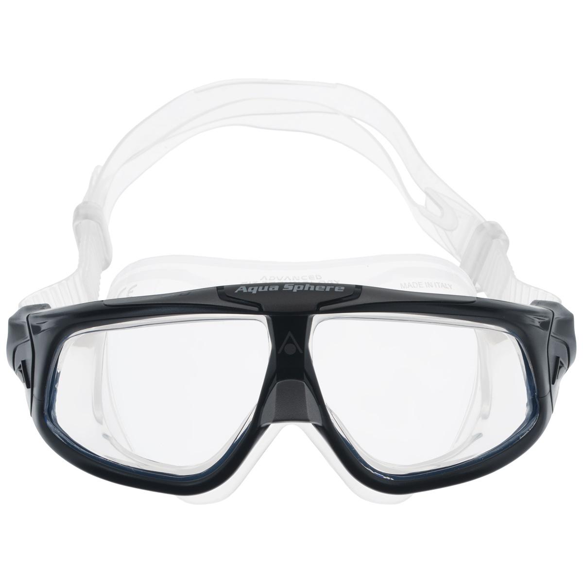 Очки для плавания Aqua Sphere Seal 2.0, цвет: черный, серебристыйTN 175100Aqua Sphere Seal 2.0 являются идеальными очками для тех, кто пользуется контактными линзами, так как они обеспечивают высокий уровень защиты глаз от внешних раздражителей, бактерий, соли и хлора. Особая форма линз обеспечивает панорамный обзор 180°. Очки дают 100% защиту от ультрафиолетового излучения. Специальное покрытие препятствует запотеванию стекол. Материал: силикон, plexisol.