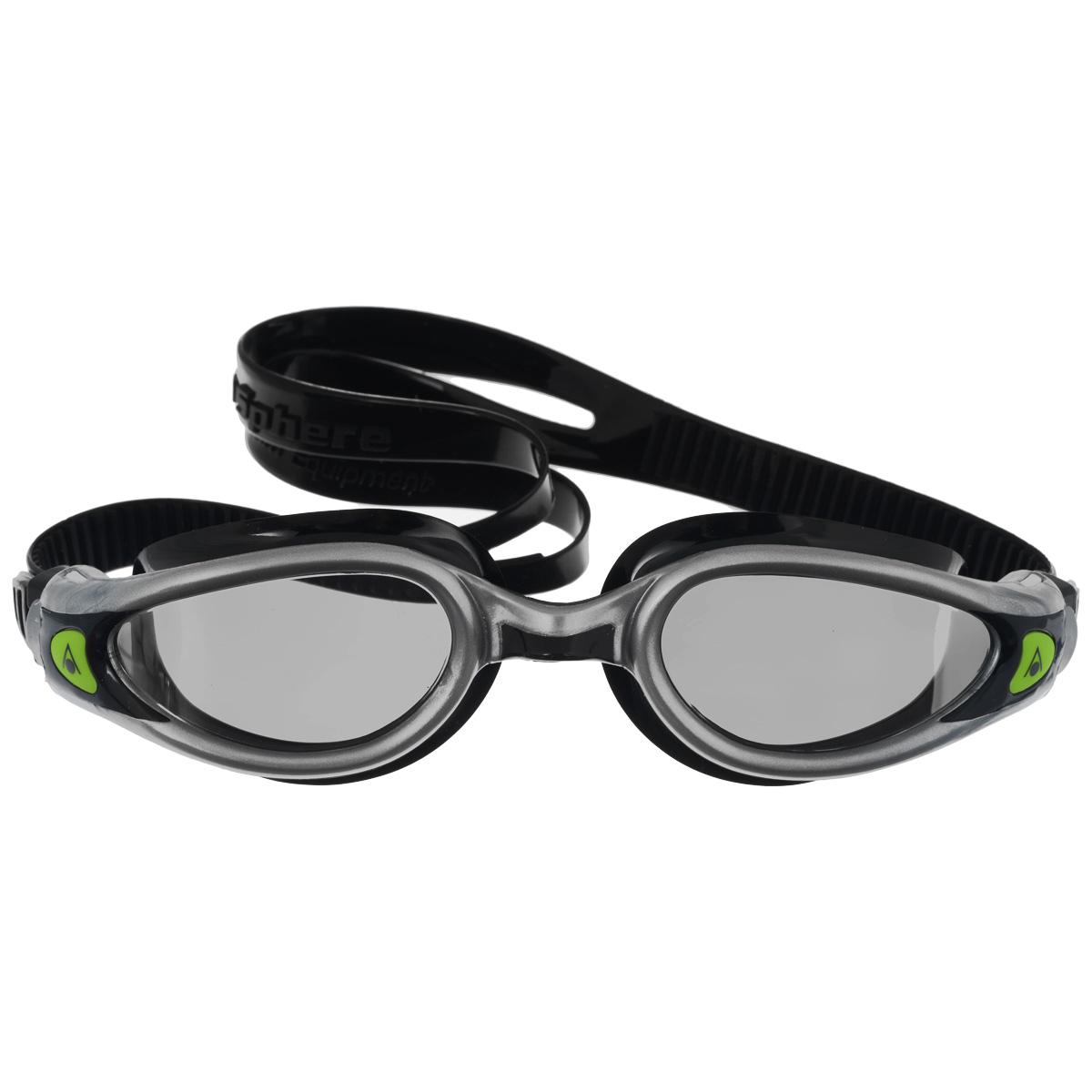 Очки для плавания Aqua Sphere Kaiman Exo, зеркальные линзы, цвет: серебристый, черныйTN 175760Модные и стильные очки Aqua Sphere Kaiman Exo идеально подходят для плавания в бассейне или открытой воде. Особая технология изогнутых линз позволяет обеспечить превосходный обзор в 180°, не искажая при этом изображение. Очки дают 100% защиту от ультрафиолетового излучения. Специальное покрытие препятствует запотеванию стекол. Новая технология каркаса EXO-core bi-material обеспечивает максимальную стабильность и комфорт. Материал: софтерил, plexisol.