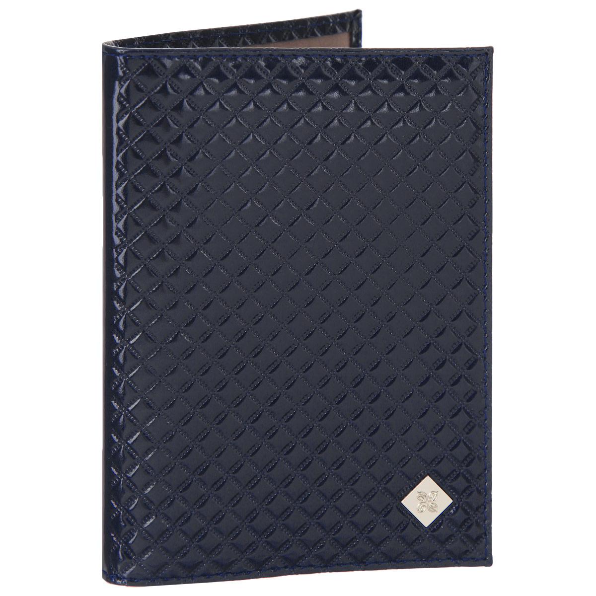 Обложка для паспорта женская Dimanche Rich, цвет: синий. 580/3580/3Обложка для паспорта Dimanche Rich выполнена из натуральной кожи, декорирована фактурным тиснением и брендовым металлическим значком на лицевой стороне обложки. Обложка на подкладке с пластиковыми клапанами. Обложка не только поможет сохранить внешний вид ваших документов и защитить их от повреждений, но и станет стильным аксессуаром, идеально подходящим вашему образу. Обложка для паспорта стильного дизайна может быть достойным и оригинальным подарком.