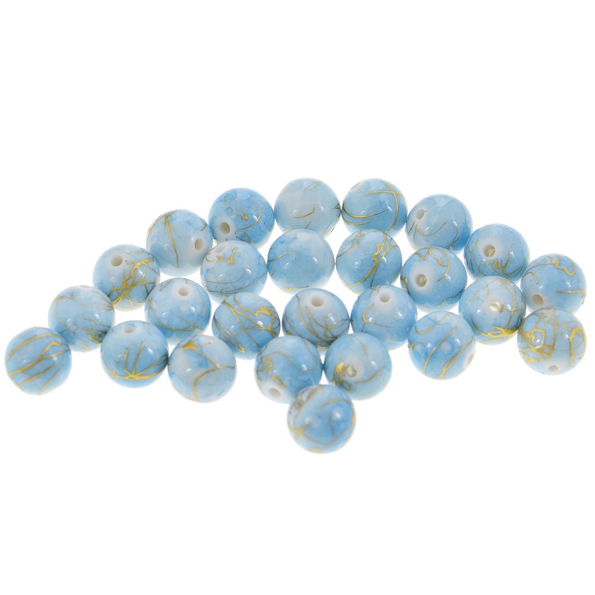 Бусины Астра Цветные камешки, цвет: голубой (6-33), диаметр 13 мм, 27 шт7710782_6-33Набор бусин Астра Цветные камешки, изготовленный из пластика, позволит вам своими руками создать оригинальные ожерелья, бусы или браслеты. Круглые бусины изготовлены в виде камешков и имеют цветные разводы с оригинальным золотистым узором. Изготовление украшений - занимательное хобби и реализация творческих способностей рукодельницы, это возможность создания неповторимого индивидуального подарка. Диаметр бусины: 13 мм.