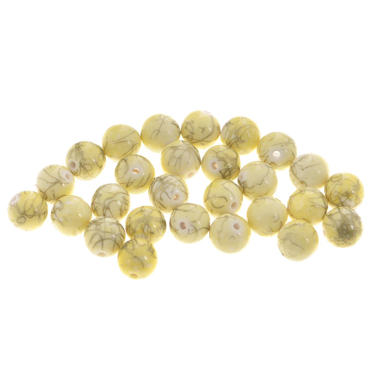 Бусины Астра Цветные камешки, цвет: шампань (6-31), диаметр 13 мм, 27 шт7710782_6-31Набор бусин Астра Цветные камешки, изготовленный из пластика, позволит вам своими руками создать оригинальные ожерелья, бусы или браслеты. Круглые бусины изготовлены в виде камешков и имеют цветные разводы с оригинальным золотистым узором. Изготовление украшений - занимательное хобби и реализация творческих способностей рукодельницы, это возможность создания неповторимого индивидуального подарка. Диаметр бусины: 13 мм.