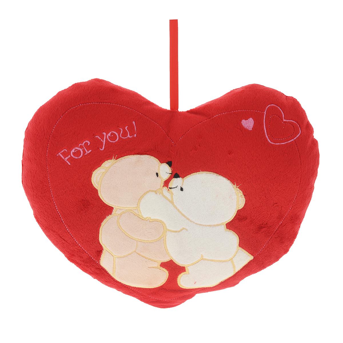 Подушка декоративная Сердце-3, мишкиСВП-40х40/3 мишкиДекоративная подушка Сердце-3 выполнена из искусственного меха красного цвета и украшена аппликацией. Петля в верхней части позволит повесить подушку в удобном для вас месте. Такая подушка будет прекрасным подарком вашим родным и друзьям.