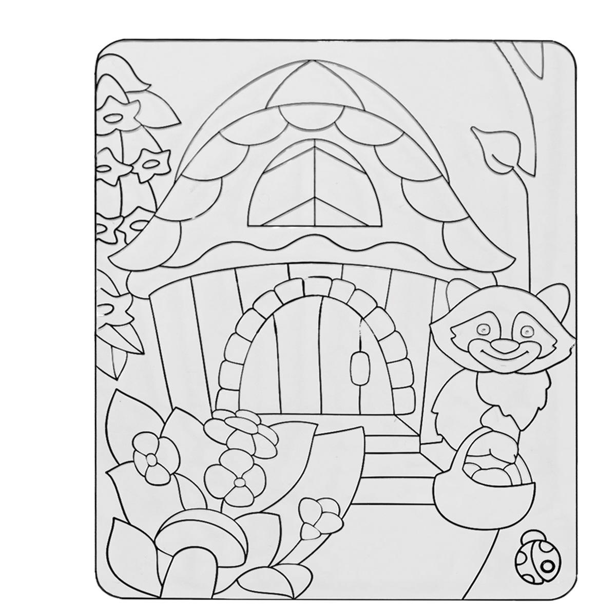 Трафарет витражный Луч Енотик22С 1407-08Трафарет витражный Луч Енотик, выполненный из безопасного пластика, предназначен для рисования краской по стеклу. Используя специальные витражные краски, ребенок раскрашивает эту заготовку по своему вкусу и получает оригинальную картину с милым енотом, которая может стать украшением комнаты. На верхней стороне трафарета есть пластиковое кольцо, за которое можно повесить картину. Трафареты предназначены для развития у детей мелкой моторики, навыков художественной композиции и зрительного восприятия. Может быть использован как рельефный трафарет для рисования.