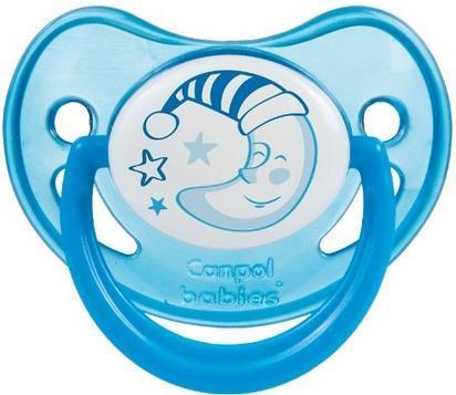 CANPOL BABIES Пустышка силиконовая ортодонтическая 6-18 мес., цвет: синий