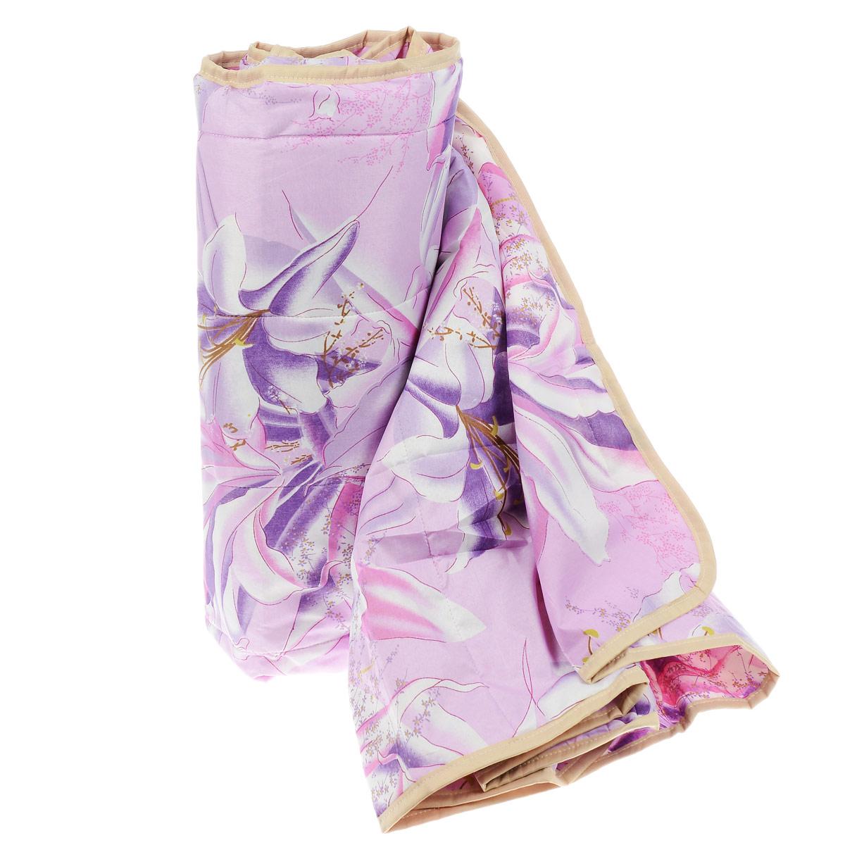 Одеяло летнее OL-Tex Miotex, наполнитель: полиэфирное волокно Holfiteks, цвет: сиреневый, 172 х 205 смМХПЭ-18-1 сиреневыйЛегкое летнее одеяло OL-Tex Miotex создаст комфорт и уют во время сна. Чехол выполнен из полиэстера и оформлен красочным цветочным рисунком. Внутри - современный наполнитель из полиэфирного высокосиликонизированного волокна Holfiteks, упругий и качественный. Прекрасно держит тепло. Одеяло с наполнителем Holfiteks легкое и комфортное. Даже после многократных стирок не теряет свою форму, наполнитель не сбивается, так как одеяло простегано и окантовано. Не вызывает аллергии. Holfiteks - это возможность легко ухаживать за своими постельными принадлежностями. Можно стирать в машинке, изделия быстро и полностью высыхают - это обеспечивает гигиену спального места при невысокой цене на продукцию. Рекомендации по уходу: - Ручная и машинная стирка при температуре 30°С. - Не гладить. - Не отбеливать. - Нельзя отжимать и сушить в стиральной машине. - Сушить вертикально. Размер одеяла: 172 см х 205 см. Материал чехла: 100% полиэстер. ...