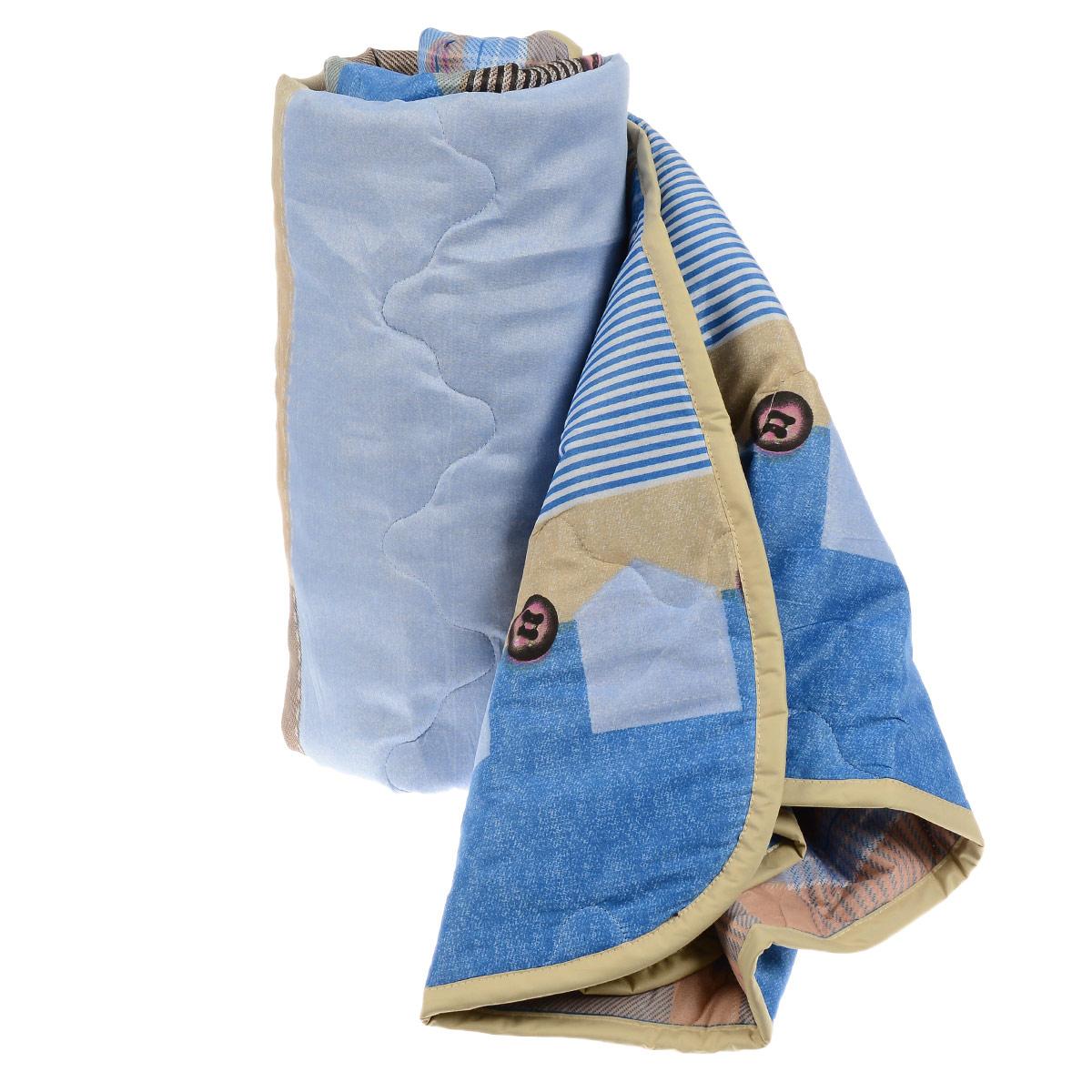 Одеяло всесезонное OL-Tex Miotex, наполнитель: полиэфирное волокно Holfiteks, цвет: голубой, бежевый, 140 см х 205 смМХПЭ-15-3 голубойВсесезонное одеяло OL-Tex Miotex создаст комфорт и уют во время сна. Стеганый чехол выполнен из полиэстера и оформлен красочным рисунком. Внутри - современный наполнитель из полиэфирного высокосиликонизированного волокна Holfiteks, упругий и качественный. Холфитекс - современный экологически чистый синтетический материал, изготовленный по новейшим технологиям. Его уникальность заключается в расположении волокон, которые позволяют моментально восстанавливать форму и сохранять ее долгое время. Изделия с использованием Холфитекса очень удобны в эксплуатации - их можно часто стирать без потери потребительских свойств, они быстро высыхают, не впитывают запахов и совершенно гиппоаллергенны. Холфитекс также обеспечивает хорошую терморегуляцию, поэтому изделия с наполнителем из холфитекса очень комфортны в использовании. Одеяло с современным упругим наполнителем Холфитекс порадует вас в любое время года. Оно комфортно согревает и создает отличный микроклимат. За одеялом легко...