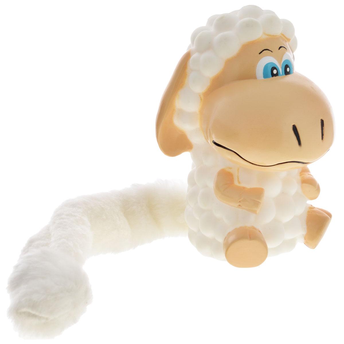 Игрушка для собак Aveva Овечка13309Игрушка для собак Aveva Овечка, выполненная в виде забавной овечки с плюшевым хвостом, изготовлена из резины. Такая игрушка позволит весело провести время вашему питомцу, а также поможет вам сохранить в целости личные вещи и предметы интерьера. Яркая игрушка привлечет внимание вашего любимца, не навредит здоровью и займет его на долгое время. Длина хвоста игрушки: 20 см.