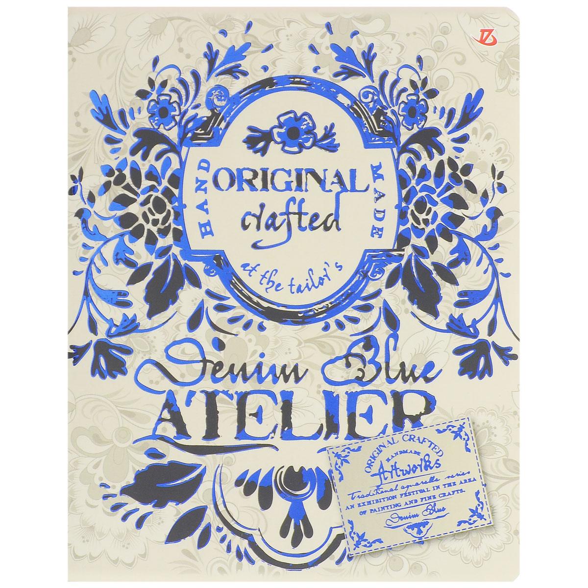 Тетрадь в клетку Seventeen Гжель, цвет: бежевый, 60 листов7231/5_бежевыйТетрадь Seventeen Гжель изготовлена из высококачественной бумаги повышенной белизны. Обложка тетради с элементами тиснения синей фольгой выполнена из мелованного картона с закругленными углами. Внутренний блок тетради, соединенный металлическими скрепками, состоит из 60 листов белой бумаги со стандартной линовкой в клетку с полями. Первая страничка содержит поля для заполнения личных данных. Тетрадь Гжель подойдет для различных работ и студенту, и школьнику.