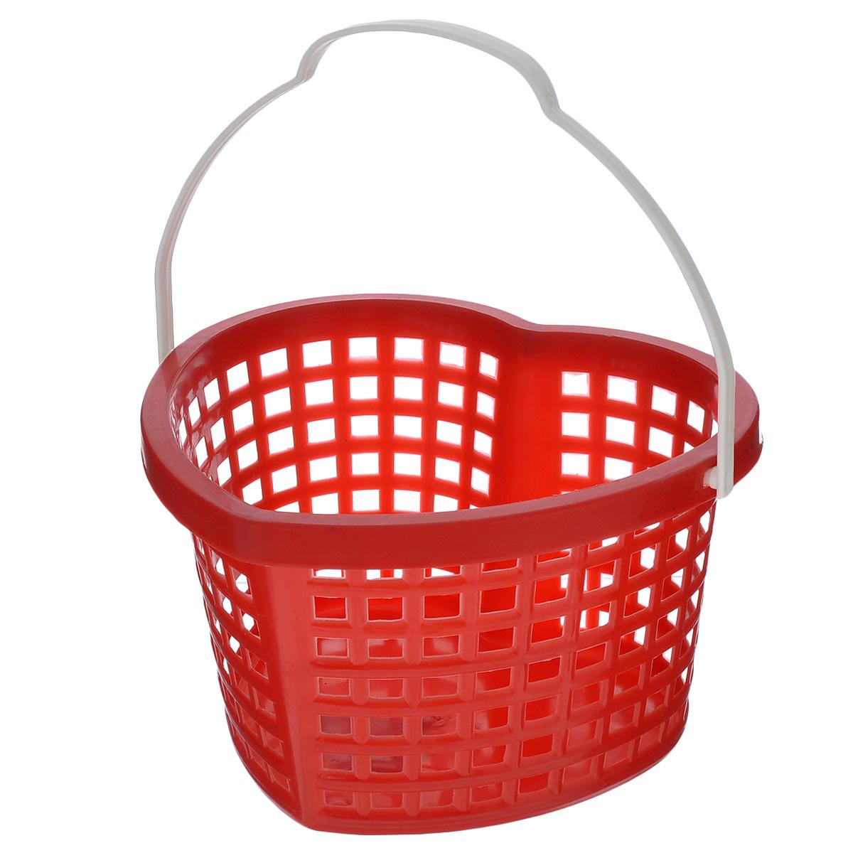 Корзина Sima-land Сердце, цвет: красный, 19 х 17 х 12 см185378_красныйКорзина Sima-land Сердце, изготовленная из высококачественного прочного пластика, предназначена для хранения мелочей в ванной, на кухне, даче или гараже. Изделие выполнено в виде сердца и оснащено эргономичной ручкой для переноски. Это легкая корзина со сплошным дном, жесткой кромкой и небольшими отверстиями, которая позволяет хранить мелкие вещи, исключая возможность их потери.