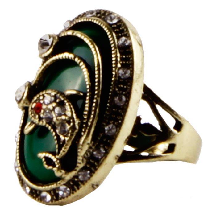 """Кольцо """"Вдохновение"""" в византийском стиле. Металл, австрийские кристаллы, декоративные материалы. Конец XX века"""