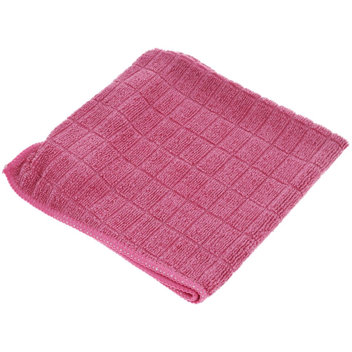 Салфетка от пыли Помощница Гламур, цвет: розовый, 30 см х 30 смЕ487 розовыйСалфетка Помощница Гламур, изготовленная из микрофибры (полиамид, полиэфир), предназначена для очищения загрязнений на любых поверхностях. Изделие обладает высокой износоустойчивостью и рассчитано на многократное использование, легко моется в теплой воде с мягкими чистящими средствами. Супервпитывающая салфетка не оставляет разводов и ворсинок, удаляет большинство жирных и маслянистых загрязнений без использования химических средств.