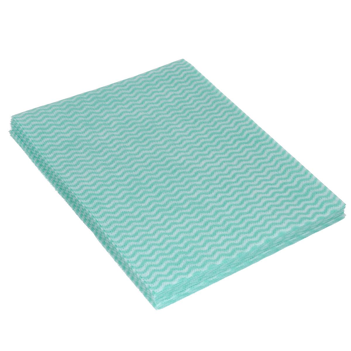 Салфетка-чудомойка Aqualine, с перфорацией, цвет: бирюзовый, 37 х 51 см, 10 шт3110 бирюзовыйСалфетка-чудомойка Aqualine выполнена из тонкого, но прочного перфорированного материала. Она обладает высокой очистительной способностью. Отлично собирает грязь и влагу, моет, не оставляя следов и ворсинок, хорошо выжимается. Салфетка имеет долгий срок службы. Салфетка легко стирается при температуре 40°С. Материал: 60% вискоза, 15% полипропилен, 15% полиэстер, 10% связующие вещества. Размер салфетки: 37 см х 51 см. Комплектация: 10 шт.