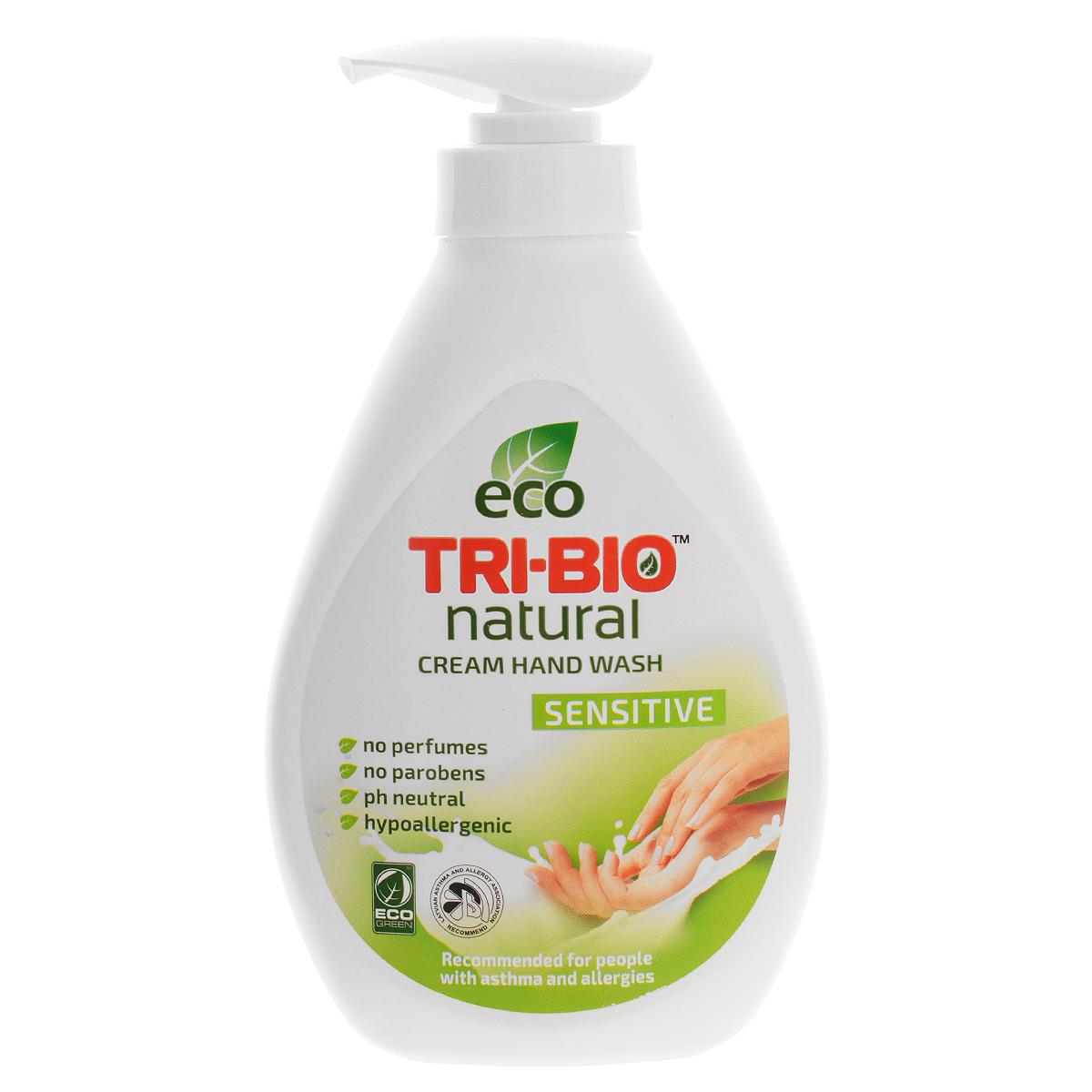 Натуральное жидкое эко крем-мыло Tri-Bio Нежное, 240 мл0130Tri-Bio Нежное - это уникальное жидкое крем-мыло, основанное на натуральных растительных и минеральных компонентах. Подходит для нежной кожи детей. Рекомендовано для людей с сухой, чувствительной кожей, склонных к аллергиям и астме. Гипоаллергенное, не содержит ароматов, красителей и парабенов, нейтральный рн, биоразлагаемое. Восстанавливает естественный баланс кожи и влажность. Помогает сохранить кожу мягкой, гладкой, шелковистой и здоровой. Присвоены ECO сертификаты.
