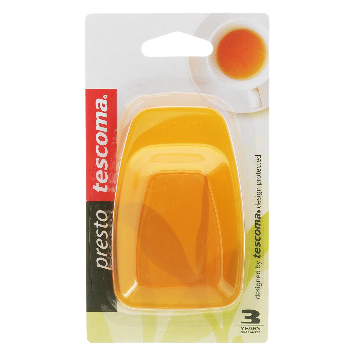 Поднос для чайных пакетов Tescoma Presto, цвет: оранжевый, 2 шт420681_оранжевыйПоднос Tescoma Presto используется как подставка для использованных чайных пакетиков. Выполнен из первоклассной прочной пластмассы. Можно мыть в посудомоечной машине.