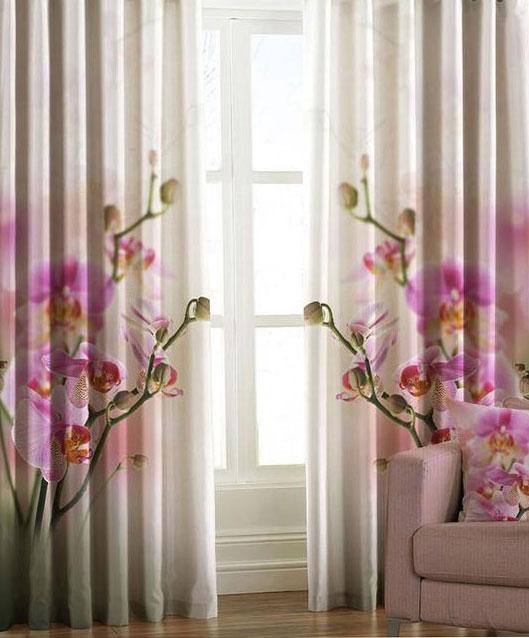 Штора светозащитная Garden Орхидея, на ленте, размер 150*270 см, 2 штW678(w2072) v445Комплект Garden Орхидея включает в себя 2 готовые шторы, выполненные из плотной ткани с цифровой печатью в виде ветки орхидеи. Светонепроницаемое полотно из полиэфирного волокна с двойным сатиновым переплетением производится из 100% полиэстера. Ткань Blackout по своим внешним признакам фактически не отличается от обычной драпировочной ткани, но обладает уникальным свойством она практически не пропускает свет. Благодаря этому можно добиться полного затемнения, так часто необходимого для спального помещения. Так как сама ткань довольно плотная, она отлично сохраняет тепло в помещении! Blackout выступает барьером создавая в зоне окна тепловой занавес, что защитит квартиру от сквозняка и холода. Летом такое положение штор из блэкаута, наоборот, сохранит прохладу внутри помещения, не дав солнечному свету нагревать помещение. Оригинальный дизайн и цветовая гамма украсят любое окно и привлекут к себе внимание. Шторы крепятся на карниз при помощи вшитой шторной ленты, которая...