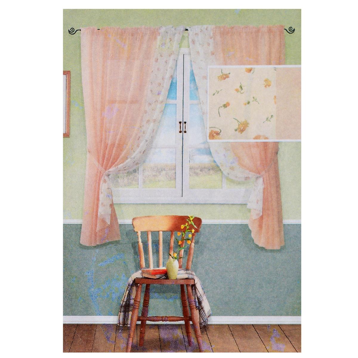 Комплект штор Kauffort Розанна, на ленте, цвет: персиковый, высота 170 смUN123871155Комплект Kauffort Солей состоит из двух штор и двух подхватов. Полотно штор выполнено из легкого полиэстера персикового цвета и декорировано вставкой из белого полиэстера с цветочным рисунком. Подхваты выполнены из легкого полиэстера персикового цвета. Качественный материал, оригинальный дизайн и приятная цветовая гамма привлекут к себе внимание и органично впишутся в интерьер помещения. Шторы оснащены лентой для красивой сборки. Комплект штор Kauffort Розанна станет великолепным украшением любого окна. В комплект входит: Штора - 2 шт. Размер (Ш х В): 177 см х 170 см. Подхват - 2 шт. Размер (Ш х Д): 150 см х 9 см.