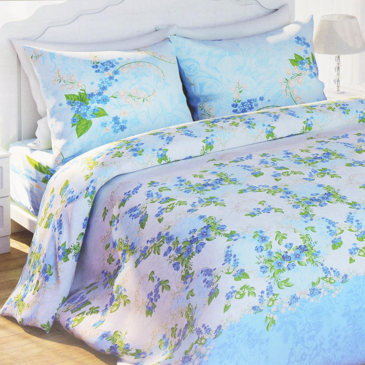 Комплект белья Любимый дом Ландыш майский, 2-спальный, наволочки 70х70279529Комплект постельного белья Любимый дом Ландыш майский состоит из пододеяльника, простыни и двух наволочек. Дизайн - множество небольших цветов. Белье изготовлено из новой ткани Биокомфорт, отвечающей всем необходимым нормативным стандартам. Биокомфорт - это ткань полотняного переплетения, из экологически чистого и натурального 100% хлопка. Неоспоримым плюсом белья из такой ткани является мягкость и легкость, она прекрасно пропускает воздух, приятна на ощупь, не образует катышков на поверхности и за ней легко ухаживать. При соблюдении рекомендаций по уходу, это белье выдерживает много стирок, не линяет и не теряет свою первоначальную прочность. Уникальная ткань обеспечивает легкую глажку.