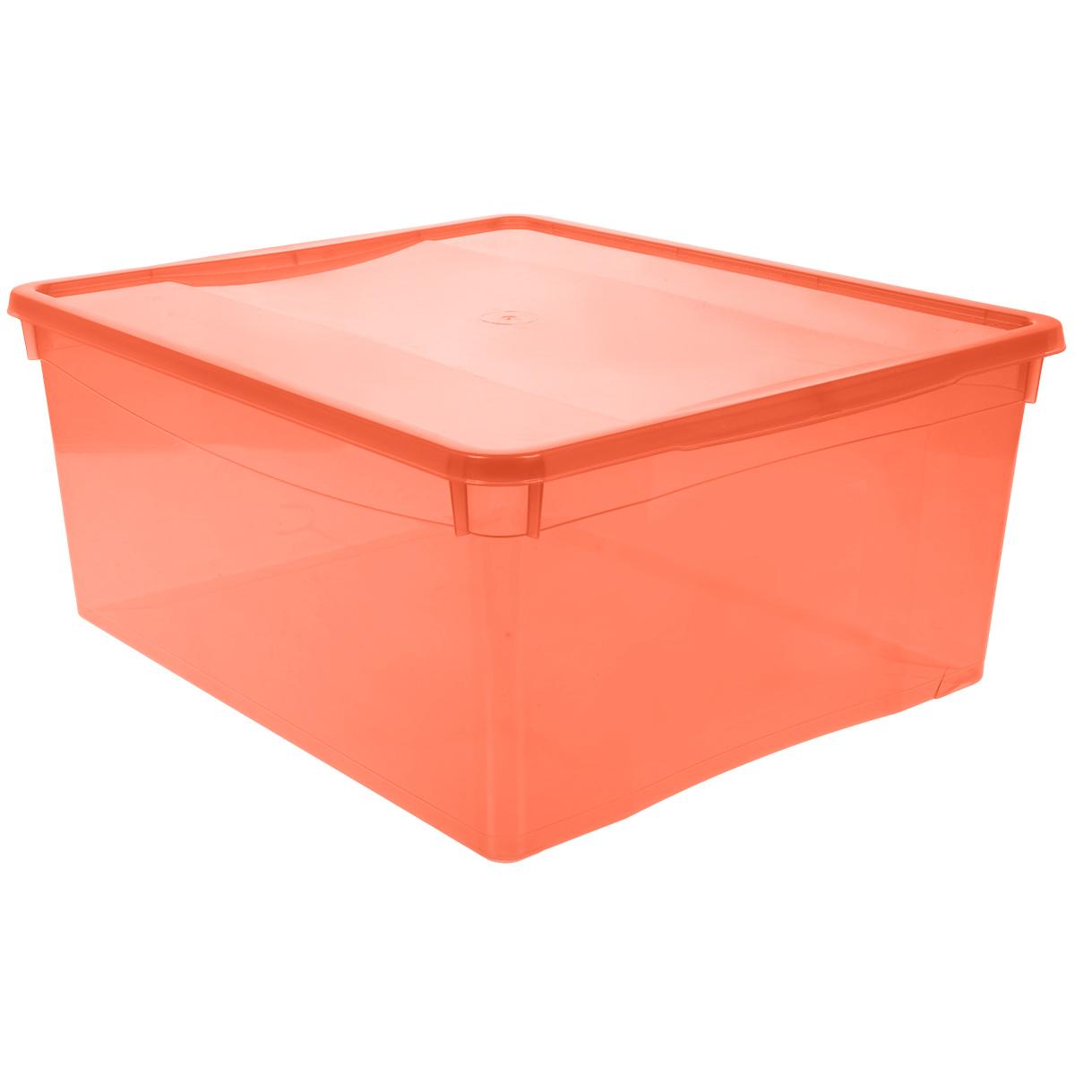 Ящик универсальный Бытпласт Колор Стайл с крышкой, цвет: красный, 18 лС12497 красныйУниверсальный ящик Бытпласт Колор Стайл выполнен из полипропилена и предназначен для хранения различных предметов. Ящик оснащен удобной крышкой. Очень функциональный и вместительный, такой ящик будет очень полезен для хранения вещей или продуктов, а также защитит их от пыли и грязи.