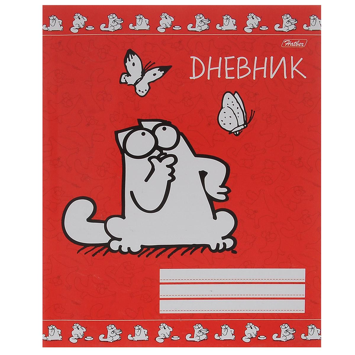 Дневник школьный Hatber Кот Саймона, цвет: красный. 40Д5B_1165440Д5B_11654Школьный дневник Hatber Кот Саймона - первый ежедневник вашего ребенка. Он поможет ему не забыть свои задания, а вы всегда сможете проконтролировать его успеваемость. Дневник предназначен для учеников 1-11 классов. Внутренний блок дневника состоит из 40 листов белой бумаги с линовкой синего цвета и прошит металлическими скрепками. Обложка выполнена из мелованного картона. В структуру дневника входят все необходимые разделы: информация о личных данных ученика, школе и педагогах, друзьях и одноклассниках, расписание факультативов и занятий по четвертям. Дневник содержит номера телефонов экстренной помощи и даты государственных праздников. В конце дневника имеются сведения об успеваемости. Дневник Hatber Кот Саймона станет надежным помощником ребенка в получении новых знаний и принесет радость своему хозяину в учебные будни. Рекомендуемый возраст: от 6 лет.