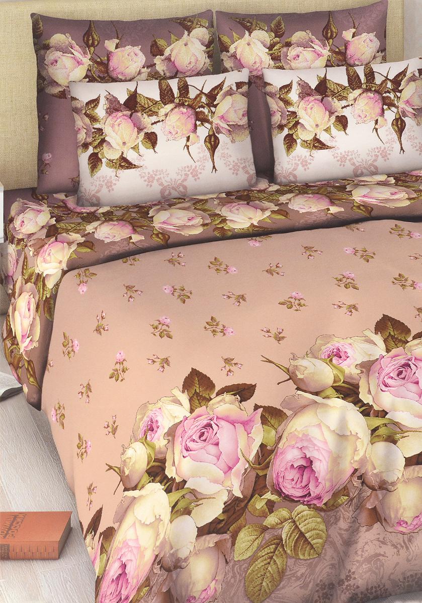 Комплект белья Василиса Французский аромат, 1,5-спальный, наволочки 70х70, цвет: сиреневый