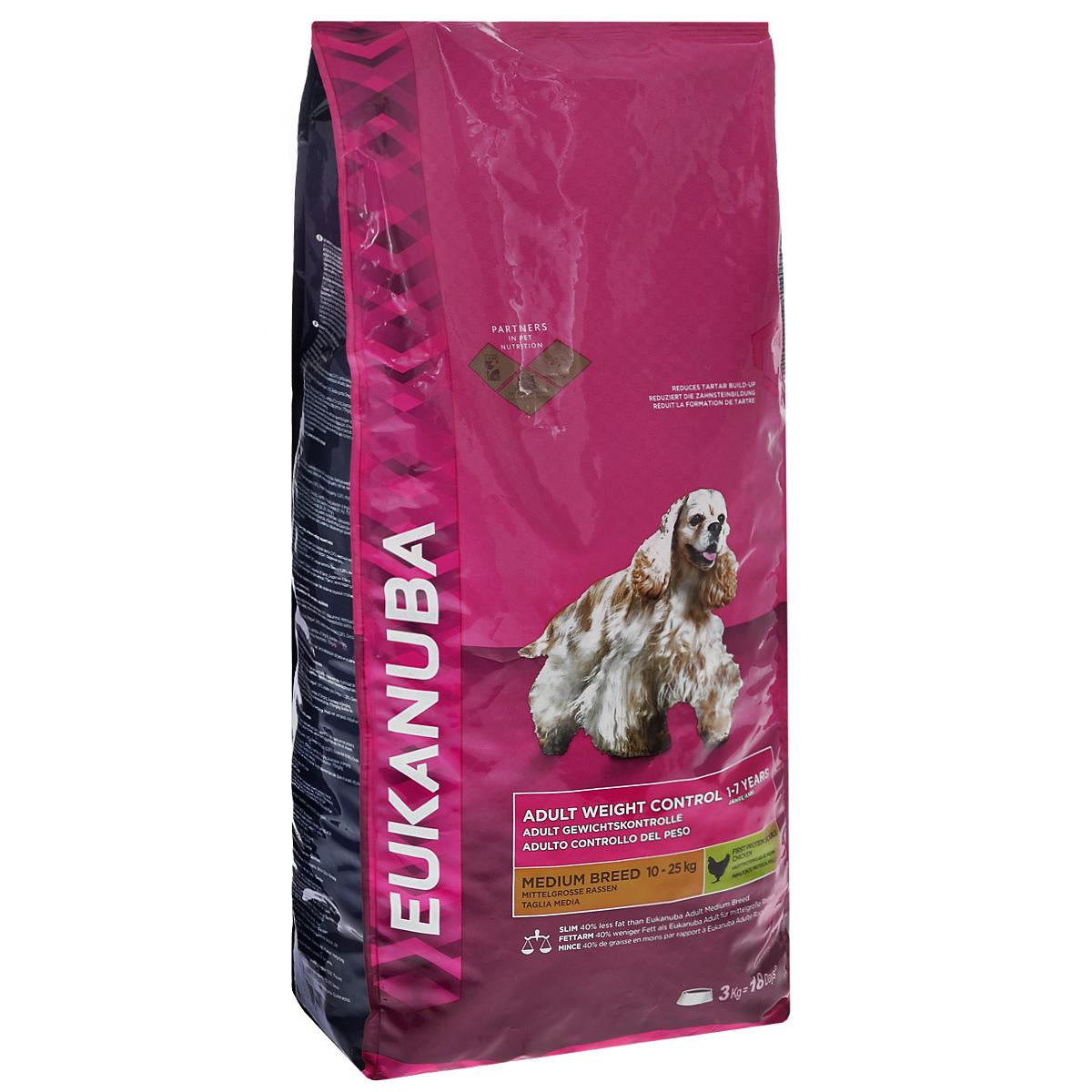 Корм сухой Eukanuba для взрослых собак мелких и средних пород с низкой активностью, 3 кг81098649Сухой корм Eukanuba является полноценным сбалансированным питанием на основе мяса курицы для взрослых собак мелких и средних пород (весом до 25 кг) со склонностью к набору лишнего веса и возрастом от 1 до 7 лет. Мясо курицы - основной источник белка. Содействует построению и сохранению мускулатуры для наилучшей физической формы. Корм содержит на 40% меньше жира для контроля за избыточным весом. Не содержит искусственных красителей и ароматизаторов. Содержит разрешенные ЕС антиоксиданты (токоферолы). Eukanuba заботится о здоровье вашего любимца. Особенности корма Eukanuba: - важный антиоксидант поддерживает естественную защиту организма вашего питомца; - пребиотики и пульпа сахарной свеклы способствуют поддержанию здорового пищеварения путем обеспечения нормального функционирования кишечника; - оптимальное соотношение омега-6 и омега-3 жирных кислот помогает укреплять здоровье кожи и шерсти; -...