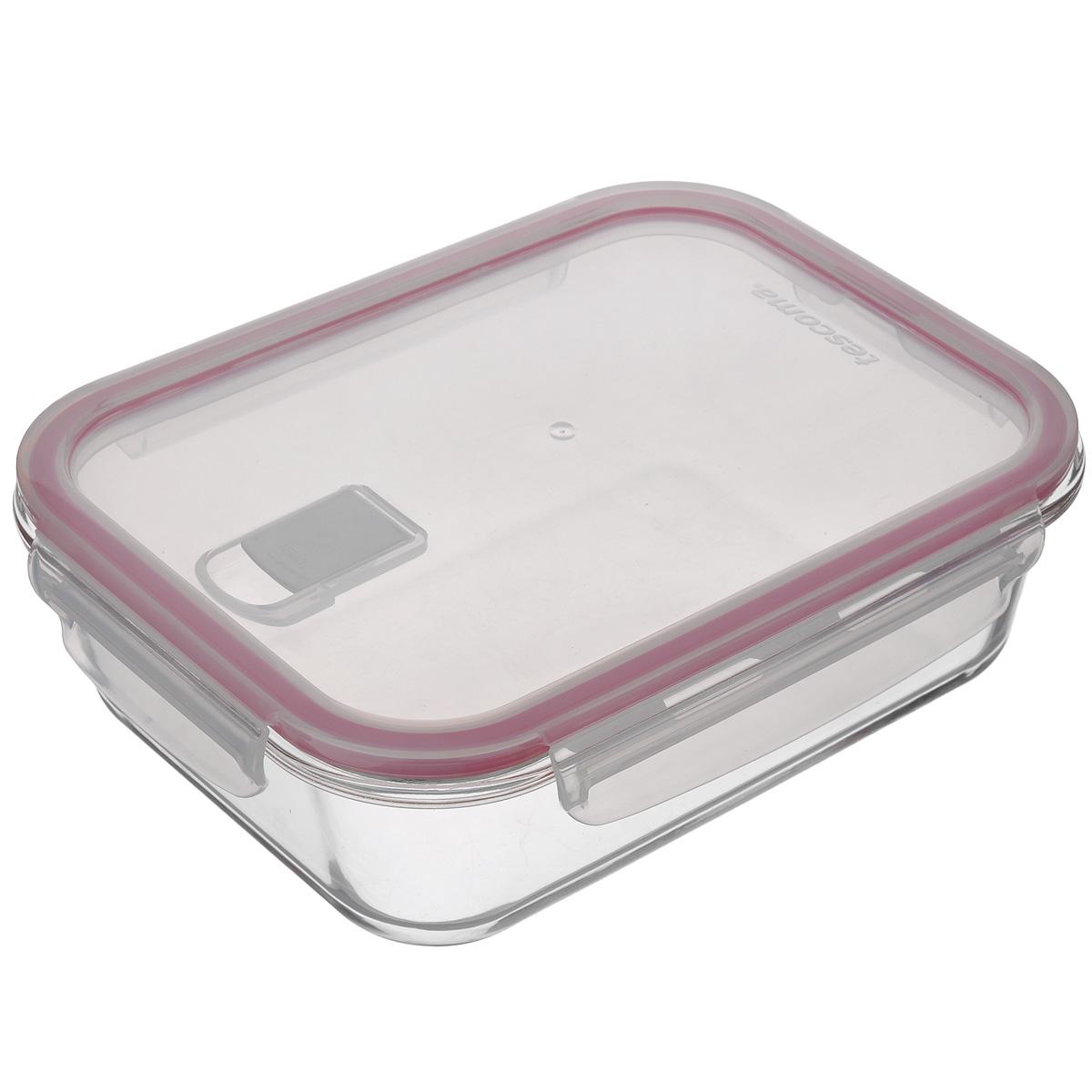 Контейнер Tescoma Freshbox Glass, 1,5 л892173Контейнер Tescoma Freshbox Glass отлично подходит для хранения, запекания и разогрева блюд. Герметичная крышка имеет силиконовый уплотнитель, пища остается свежей дольше и не протекает при перевозке. Клапан для выпуска пара позволяет разогреть пищу в микроволновой печи с крышкой. Изготовлен контейнер из термостойкого боросиликатного стекла, отличного силикона и прочной пластмассы. Устойчив от -18°С до +110°С (крышка) и 240°C (корпус). Подходит для холодильника, морозильных камер, микроволновой печи и посудомоечной машины.